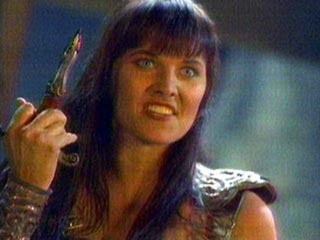 Xena's 'Fuck You!'